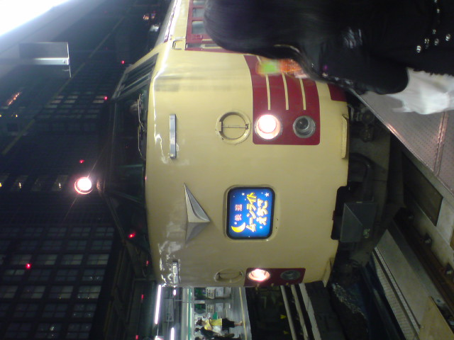 夜行列車と私。